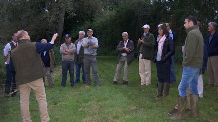 GWCT grey partridge awards event at IxworthThorpe. Visitors are shown some of the conservation work
