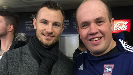 Ipswich Town fan Josh was a season ticket holder for 19 years - he is pictured here with Tommy Smith