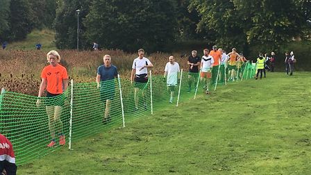 Runners in the finishing funnel at the end of the Cheltenham Parkrun last Saturday