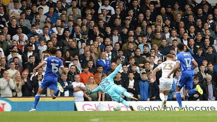 Bartosz Bialkowski is beaten by Phillips for the second goal at Leeds Picture Pagepix