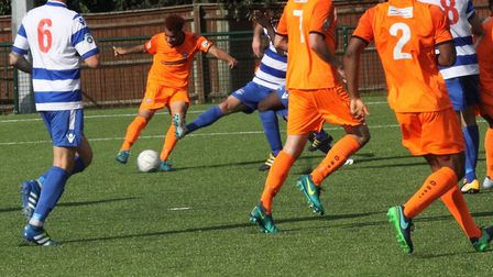 Phil Roberts, who was on target twice in the 5-0 home win over Hungerford Town on Saturday. Picture: