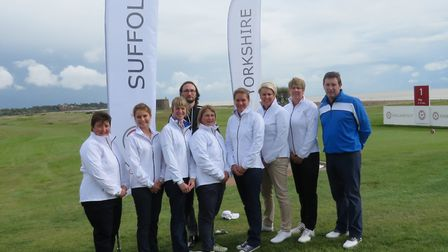 A group of Suffolk Ladies before they played a few practice holes on Sunday before the start of Engl