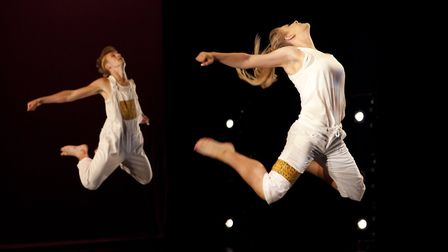 Students from DanceEast's Centre for Advanced Training performing at a showcase event. The creative