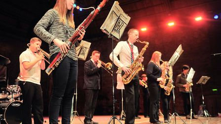 Celebration of Suffolk Schools Music at Snape Maltings. Sir John Leman High School, Beccles. The cre
