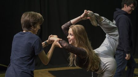 Rehearsal for The Wolsey Youth production of The Twits. The creative arts provide a vital strand for