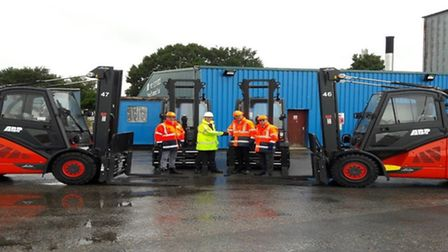 New Linde forklift trucks at the Port of Ipswich. Picture: ABP