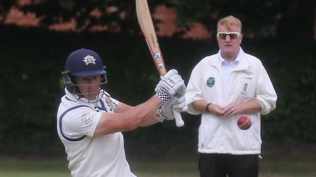 Copdock opening batsmen Martyn Cull, who struck 122 not out in the final day win over Norwoich Pictu