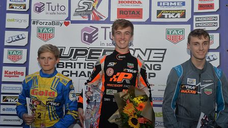 After victory in Lincolnshire, Robert Welsham on the podium