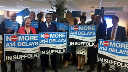 Members of the No More A14 Delays in Suffolk Strategy Board. Picture: Suffolk Chamber of Commerce
