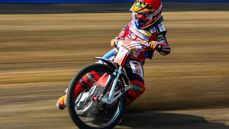 Drew Kemp in action at Foxhall. Photos: STEVE WALLER
