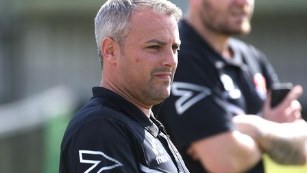Manager Jamie Godbold, who has parted company with AFC Sudbury tonight. Picture: RICHARD MARSHAM
