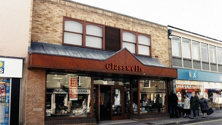 The Glasswells store in North Street, Sudbury, as it appeared in 1998. Picture: Glasswells