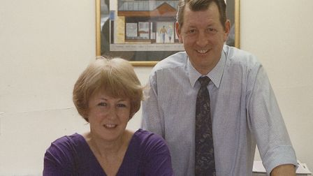 Peter and Rosemary Woodward at the former Glasswells in Sudbury which closed in 2004. Picture: GLASS