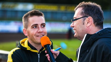 Witches team manager Ritchie Hawkins is interviewed bu Stephen Foster at Foxhall. Hawkins says Witch