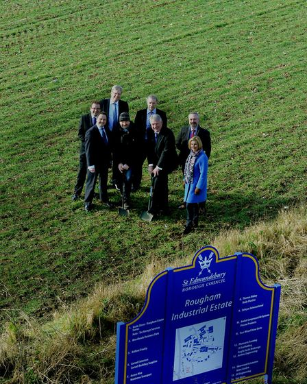 John Griffiths, leader of St Edmundsbury council, Chris Starkie, of New Anglia LEP and other partner