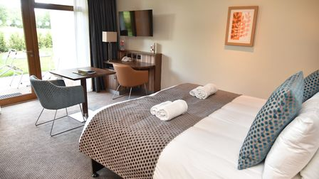 The new Breckland apartments at Center Parcs, which are similar to how the resort's new waterside ap