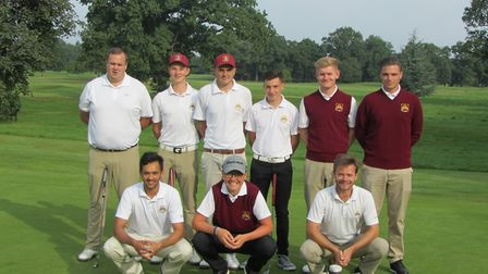 A changed Suffolk second team which played Lincolnshire at Woodhall Spa. Back (from left): James Tyl