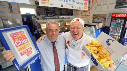 Henley's Fish and Chip Shop in Wivenhoe annouced as one of the two top fish and chip shops in London