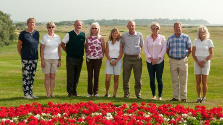 The Felixstowe Ferry organising committee for the England Golf Ladies County Championship finals. F