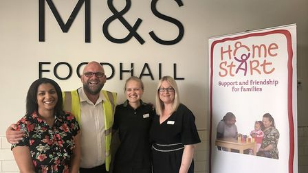 The launch of Home-Start as the Martlesham Heath M&S Foodhall's charity of the year. Picture: Helen