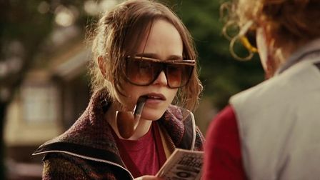 Juno (Ellen Page) discusses adoption options in the coming of age comedy Juno. Photo: Fox Searchligh
