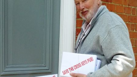 Star Wars actor George Roubicek delivering Share Offer brochures in Redgrave. Picture: CONTRIBUTED
