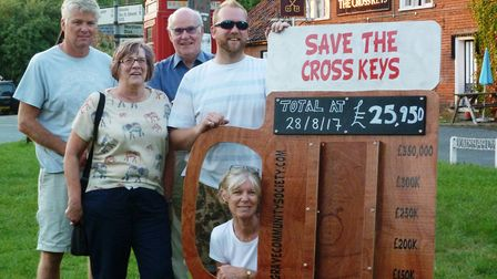 Management committee of the Redgrave Community Society Ltd (from left) Andy Barber, Neil Smith, And