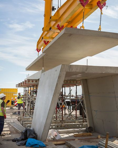 Work on the new tunnel entrance on Roker Pier in Sunderland by Hall Construction. Picture: Paul Ni