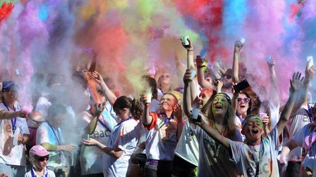 It's fun but messy! Get involved with the Bury colour dash this weekend and help raise some money fo