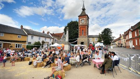 A day of music and entertainment at the clocktower square as part of the Bildeston Festival. Picture