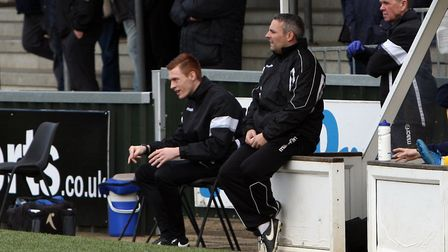 AFC Sudbury manager Jamie Godbold, hoping his side can bounce back against Mildenhall this afternoon
