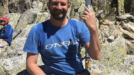 Ashtons Legal personal injury partner Richard Foyster at the top of Fenetre d'Arpette in the Swiss A