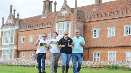 Left to right: Gary Cox, Sarah Howe, Rachael Mittel, Graham Moore, at the Walk with a Fork charity e