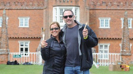 Heidi and Simon Bellamy ready for the walk. Picture: SARAH LUCY BROWN