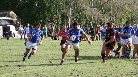 Action from Diss' win at South Woodham Ferrers in London One at the weekend