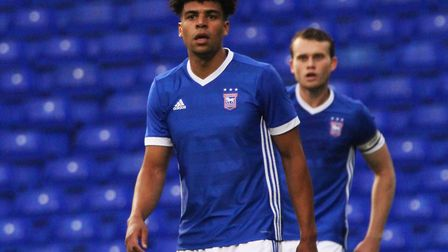 Tom Adeyemi's first game in a Town shirt. Picture: Ross Halls