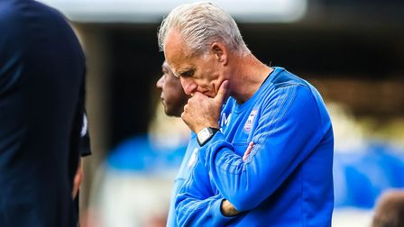 Town manager Mick McCarthy pictured during the Ipswich Town v Fulham (Sky Bet Championship) match.