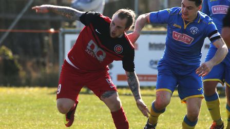 Clarke Bruce was on target for Henley in their draw at Leiston. Picture: SEANNA HUGHES