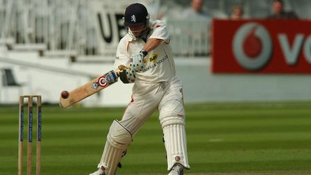 Andrew Mawson smashes a four at Lord's against Cheshire when Suffolk won the Minor Counties KO Cup i