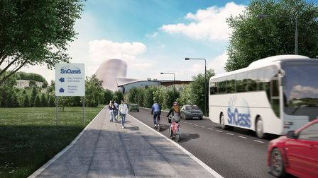 New-look artist impression of SnOasis. The proposed approach to SnOasis. Picture: ONSLOW SUFFOLK/SNO