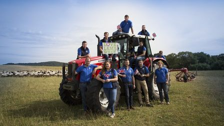The 2017 National Sheep Association Young Ambassadors made up of 12 sheep farmers from across the co