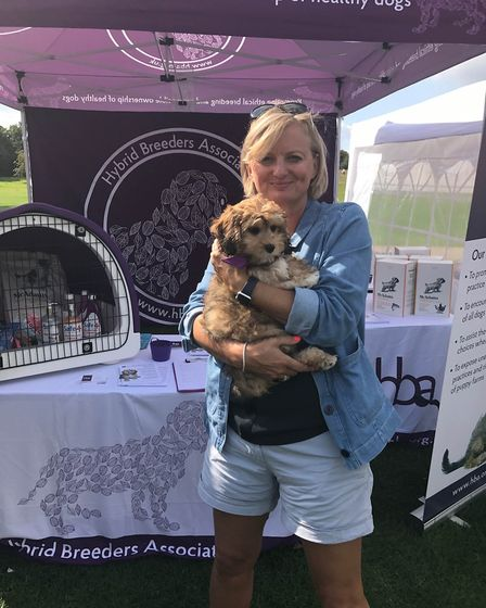 The Hybrid Breeders Association (HBA) travelled to London to take part in Pupaid. Alice Beer with Bu