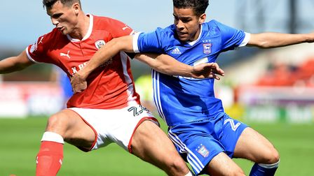 Ipswich Town midfielder Tristan Nydam made his England Under-19 debut last Friday. Picture: Pagepix
