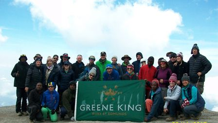 The group from Greene King who climbed Mount Kilimanjaro for Macmillan Cancer Support.