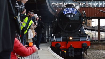 Flying Scotsman is due to visit Ipswich on Saturday, but will it make the trip? Picture: NETWORK RAI