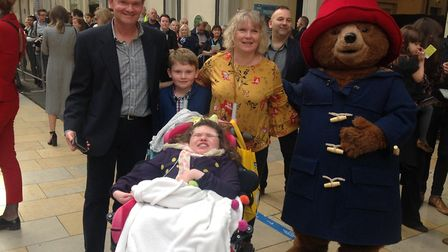 The Brown family during their trip to Paddington Station in London to meet members of the Royal fami
