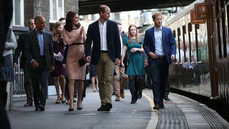 The Duke and Duchess of Cambridge and Prince Harry attend the Charities Forum event. Picture: JONATH