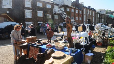 Vintage & Makers Market at Snape Maltings. Picture: LUCY TAYLOR