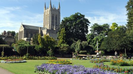 St Edmundsbury Cathedral viewed from the Abbey Gardens in Bury St Edmunds. Picture: PHIL MORLEY
