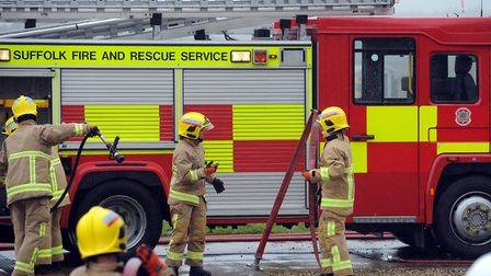 Fireflighters are tackling the flames. File picture: PHIL MORLEY